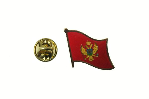 MONTENEGRO NATIONAL COUNTRY FLAG METAL LAPEL PIN BADGE .. 3/4 X 3/4 INCH .. NEW
