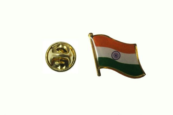 INDIA NATIONAL COUNTRY FLAG METAL LAPEL PIN BADGE ... 3/4 X 3/4 INCH .. NEW