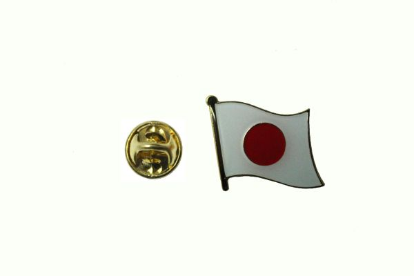 JAPAN NATIONAL COUNTRY FLAG METAL LAPEL PIN BADGE ... 3/4 X 3/4 INCH .. NEW