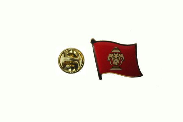 LAOS OLD NATIONAL COUNTRY FLAG METAL LAPEL PIN BADGE ... 3/4 X 3/4 INCH .. NEW