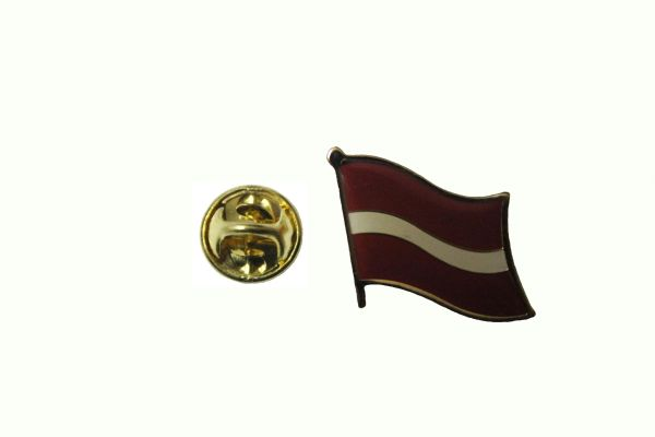 LATVIA NATIONAL COUNTRY FLAG METAL LAPEL PIN BADGE ... 3/4 X 3/4 INCH . NEW