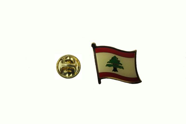 LEBANON NATIONAL COUNTRY FLAG METAL LAPEL PIN BADGE .. 3/4 X 3/4 INCH .. NEW