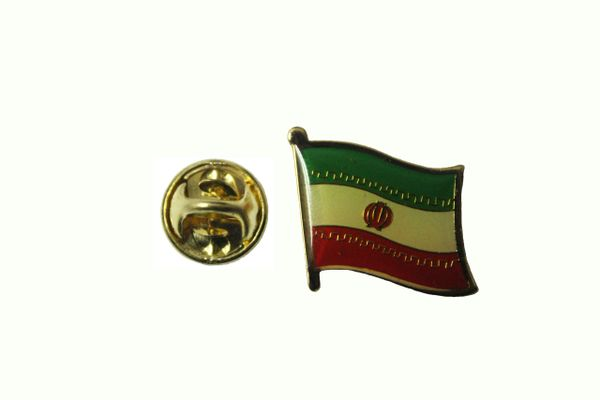 IRAN NEW TULIP NATIONAL COUNTRY FLAG METAL LAPEL PIN BADGE .. 3/4 X 3/4 INCH .. NEW