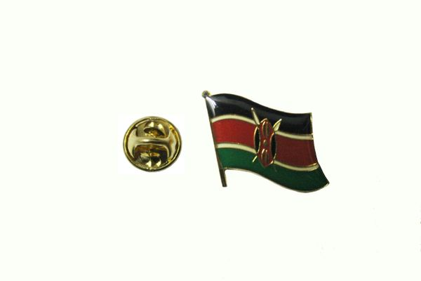 KENYA NATIONAL COUNTRY FLAG METAL LAPEL PIN BADGE .. 3/4 X 3/4 INCH ... NEW