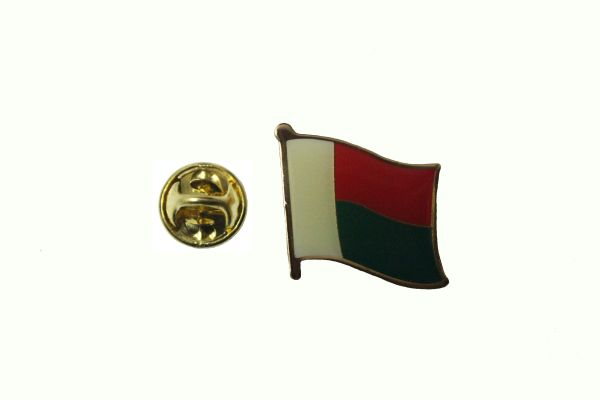 MADAGASCAR NATIONAL COUNTRY FLAG METAL LAPEL PIN BADGE .. 3/4 X 3/4 INCH ... NEW