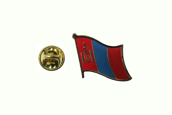 MONGOLIA NATIONAL COUNTRY FLAG METAL LAPEL PIN BADGE .. 3/4 X 3/4 INCH .. NEW