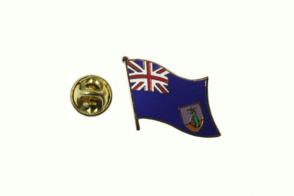 MONTSERRAT NATIONAL COUNTRY FLAG METAL LAPEL PIN BADGE .. 3/4 X 3/4 INCH .. NEW