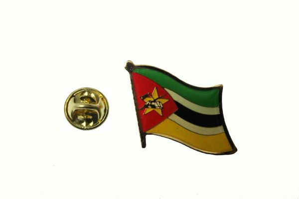 MOZAMBIQUE NATIONAL COUNTRY FLAG METAL PIN BADGE .. 3/4 X 3/4 INCH ... NEW