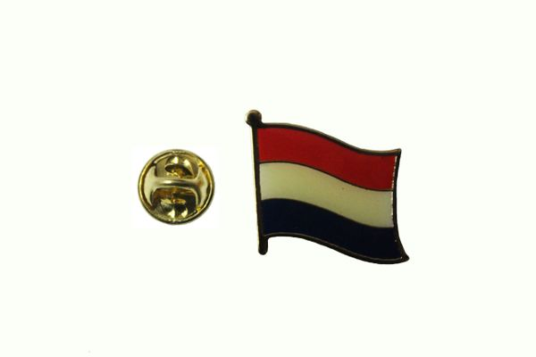 NETHERLANDS HOLLAND NATIONAL COUNTRY FLAG METAL LAPEL PIN BADGE .. 3/4 X 3/4 INCH .. NEW