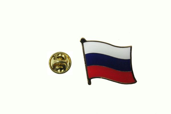 RUSSIA NATIONAL COUNTRY FLAG METAL PIN BADGE .. 3/4 X 3/4 INCH .. NEW