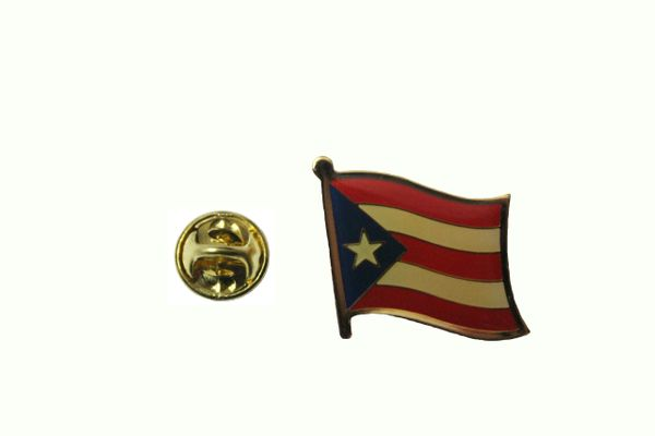 PUERTO RICO NATIONAL COUNTRY FLAG METAL LAPEL PIN BADGE .. NEW