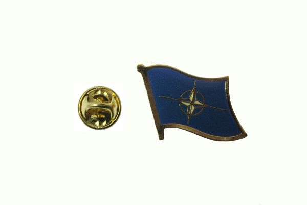 NATO FLAG METAL LAPEL PIN BADGE N.A.T.O. .. 3/4 X 3/4 INCH ... NEW
