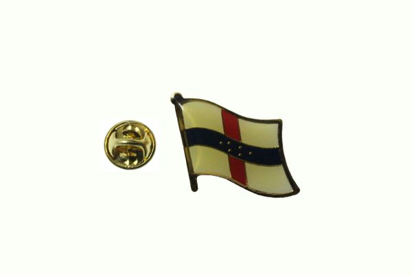 NETHERLANDS ANTILLES NATIONAL COUNTRY FLAG METAL LAPEL PIN BADGE ... 3/4 X 3/4 INCH .. NEW