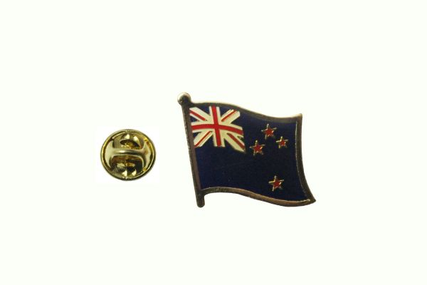 NEW ZEALAND NATIONAL COUNTRY FLAG METAL LAPEL PIN BADGE .. 3/4 X 3/4 INCH .. NEW