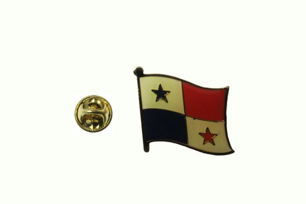 PANAMA NATIONAL COUNTRY FLAG METAL LAPEL PIN BADGE .. 3/4 X 3/4 INCH .. NEW