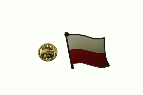 POLAND PLAIN POLSKA NATIONAL COUNTRY FLAG METAL LAPEL PIN BADGE .. 3/4 X 3/4 INCH .. NEW