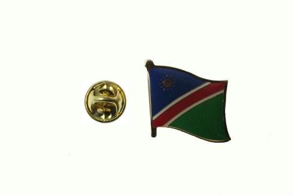 NAMIBIA NATIONAL COUNTRY FLAG METAL LAPEL PIN BADGE ... 3/4 X 3/4 INCH .. NEW