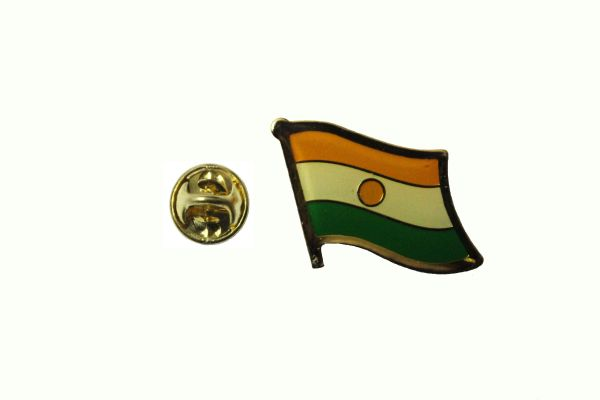 NIGER NATIONAL COUNTRY FLAG METAL LAPEL PIN BADGE . 3/4 X 3/4 INCH .. NEW