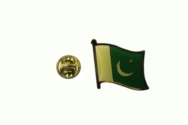 PAKISTAN NATIONAL COUNTRY FLAG METAL LAPEL PIN BADGE .. 3/4 X 3/4 INCH . NEW
