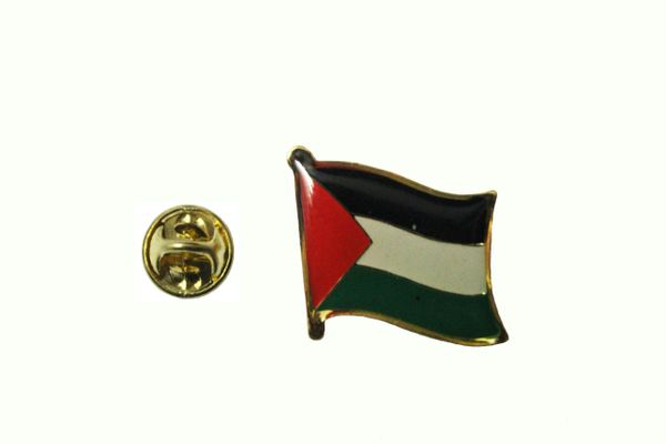 PALESTINE NATIONAL COUNTRY FLAG METAL LAPEL PIN BADGE .. 3/4 X 3/4 INCH .. NEW