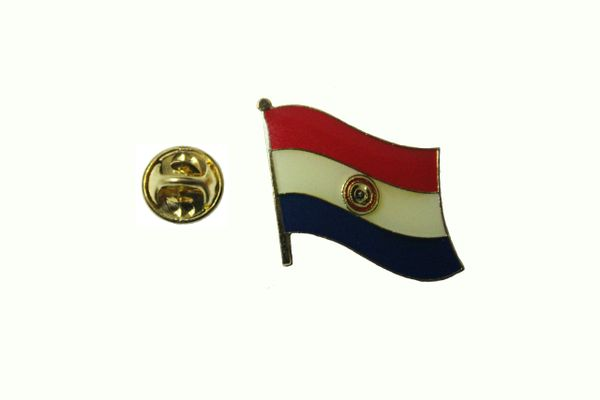PARAGUAY NATIONAL COUNTRY FLAG METAL LAPEL PIN BADGE .. 3/4 X 3/4 INCH .. NEW