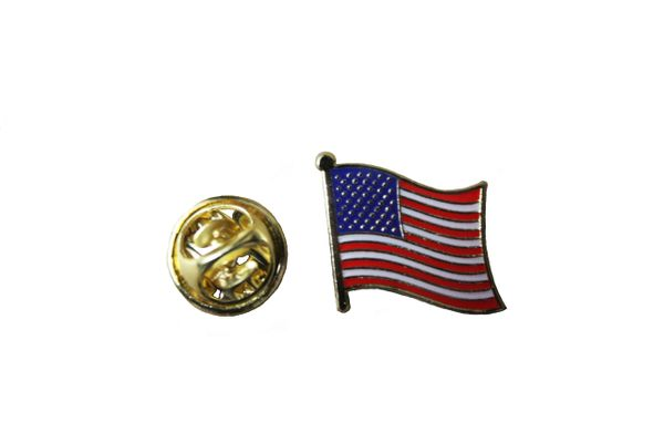 USA UNITED STATES NATIONAL COUNTRY FLAG METAL LAPEL PIN BADGE .. 3/4 X 3/4 INCH .. NEW