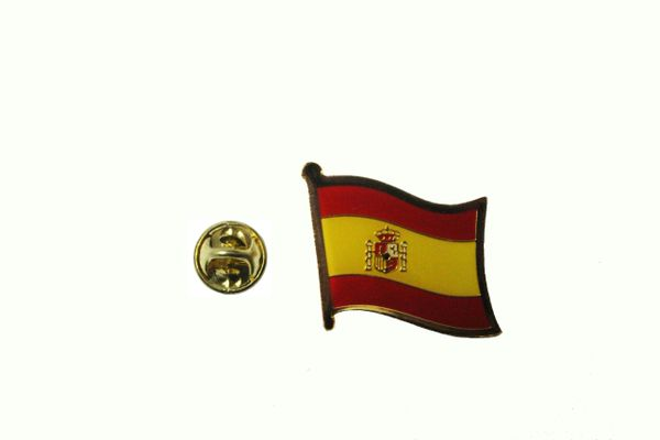 SPAIN ESPANA NATIONAL COUNTRY FLAG METAL LAPEL PIN BADGE .. 3/4 X 3/4 INCH .. NEW