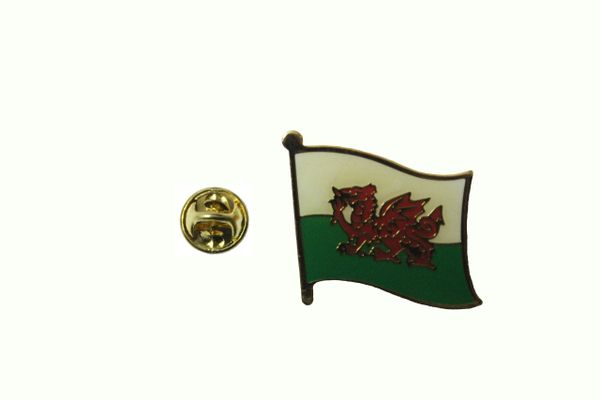 WALES CYMRU NATIONAL COUNTRY FLAG METAL LAPEL PIN BADGE .. 3/4 X 3/4 INCH .. NEW