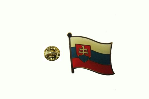 SLOVAKIA NATIONAL COUNTRY FLAG METAL LAPEL PIN BADGE . 3/4 X 3/4 INCH .. NEW