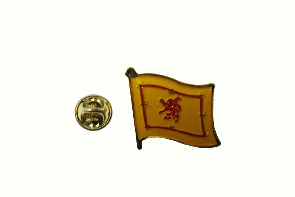 SCOTLAND LION RAMPANT NATIONAL COUNTRY FLAG METAL LAPEL PIN BADGE .. 3/4 X 3/4 INCH .. NEW
