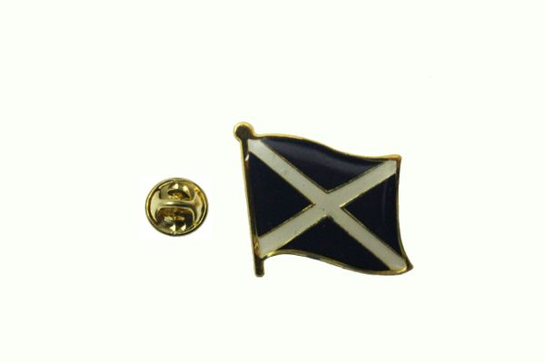 SCOTLAND ST ANDREWS CROSS NATIONAL COUNTRY FLAG METAL LAPEL PIN BADGE .. 3/4 X 3/4 INCH .. NEW