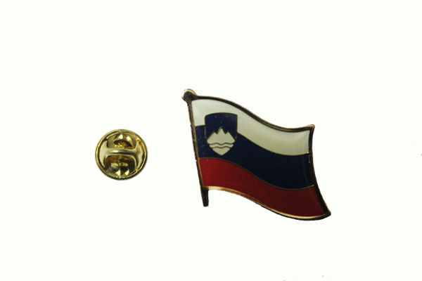 SLOVENIA NATIONAL COUNTRY FLAG METAL PIN BADGE .. 3/4 X 3/4 INCH .. NEW