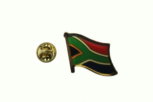 SOUTH AFRICA NATIONAL COUNTRY FLAG METAL LAPEL PIN BADGE .. 3/4 X 3/4 INCH .. NEW