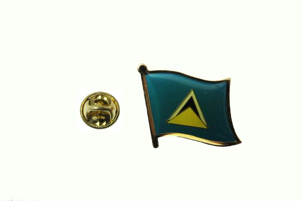 ST LUCIA NATIONAL COUNTRY FLAG METAL LAPEL PIN BADGE .. 3/4 X 3/4 INCH .. NEW