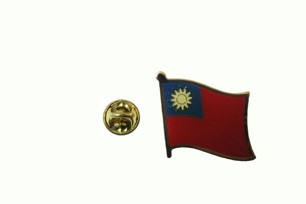 TAIWAN NATIONAL COUNTRY FLAG METAL LAPEL PIN BADGE .. 3/4 X 3/4 INCH .. NEW