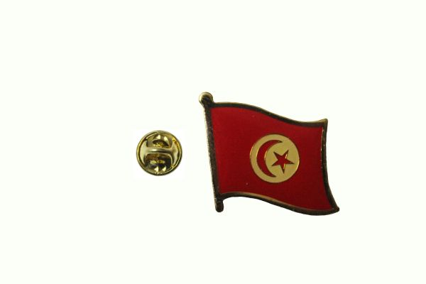 TUNISIA NATIONAL COUNTRY FLAG METAL LAPEL PIN BADGE .. 3/4 X 3/4 INCH .. NEW
