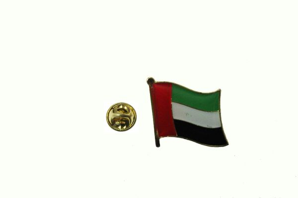 UAE UNITED ARAB EMIRATES NATIONAL COUNTRY FLAG METAL LAPEL PIN BADGE .. 3/4 X 3/4 INCH .. NEW