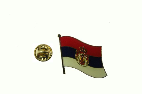 SERBIA SRBIJA NATIONAL COUNTRY FLAG METAL LAPEL PIN BADGE .. 3/4 X 3/4 INCH .. NEW