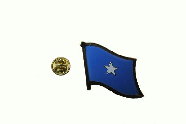 SOMALIA NATIONAL COUNTRY FLAG METAL PIN BADGE .. 3/4 X 3/4 INCH .. NEW