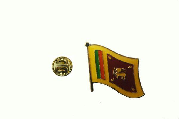 SRI LANKA NATIONAL COUNTRY FLAG METAL LAPEL PIN BADGE .. SRI LANKA 3/4 X 3/4 INCH .. NEW