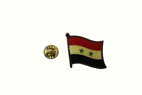 SYRIA NATIONAL COUNTRY FLAG METAL LAPEL PIN BADGE .. 3/4 X 3/4 INCH .. NEW
