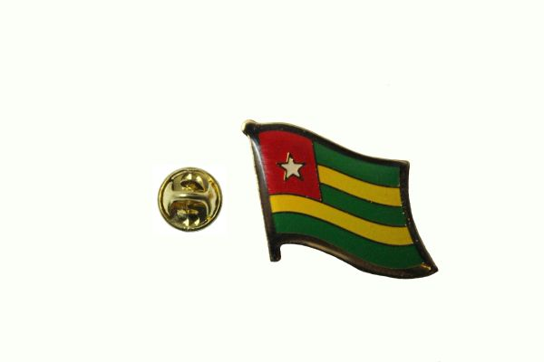 TOGO NATIONAL COUNTRY FLAG METAL LAPEL PIN BADGE .. 3/4 X 3/4 INCH .. NEW
