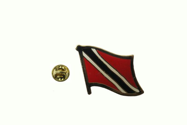 TRINIDAD & TOBAGO NATIONAL COUNTRY FLAG METAL LAPEL PIN BADGE .. 3/4 X 3/4 INCH .. NEW