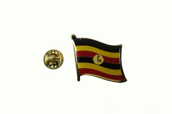 UGANDA NATIONAL COUNTRY FLAG METAL LAPEL PIN BADGE .. 3/4 X 3/4 INCH .. NEW