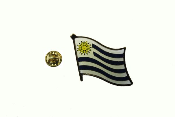 URUGUAY NATIONAL COUNTRY FLAG METAL LAPEL PIN BADGE .. 3/4 X 3/4 INCH .. NEW