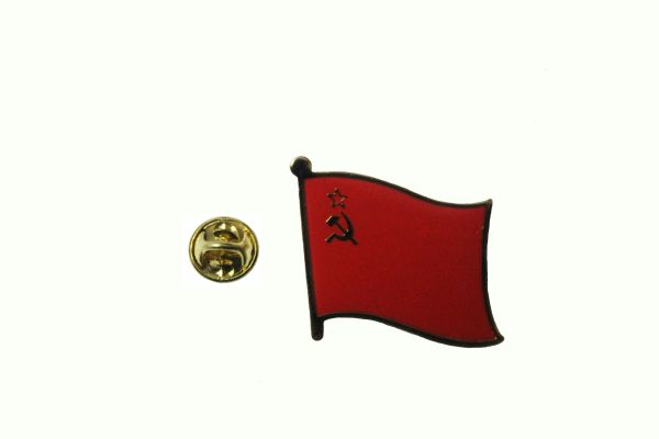 USSR OLD RUSSIAN NATIONAL COUNTRY FLAG METAL LAPEL PIN BADGE .. 3/4 X 3/4 INCH .. NEW