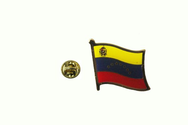 VENEZUELA 7 STARS NATIONAL COUNTRY FLAG METAL LAPEL PIN BADGE .. 3/4 X 3/4 INCH .. NEW