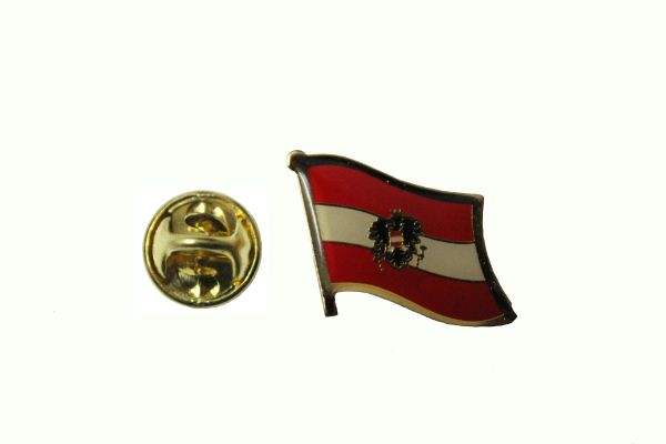 AUSTRIA With EAGLE NATIONAL COUNTRY FLAG LAPEL PIN BADGE