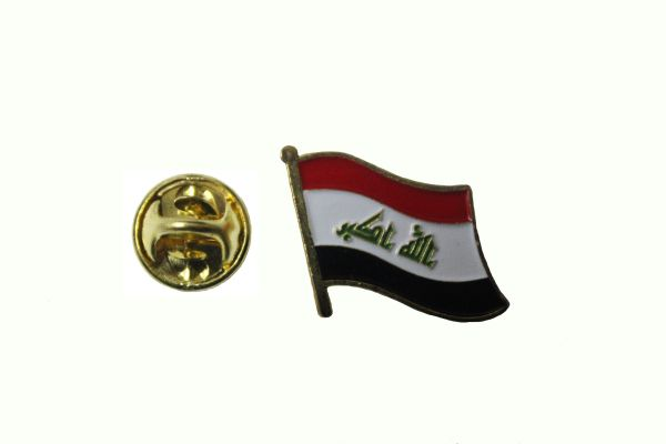 IRAQ New NATIONAL COUNTRY FLAG LAPEL PIN BADGE