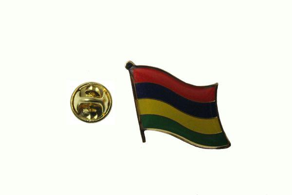 MAURITIUS NATIONAL COUNTRY FLAG LAPEL PIN BADGE